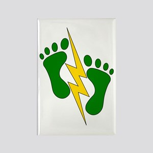 Green Feet 2 - PJ Rectangle Magnet